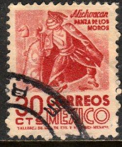MEXICO 861, 30c 1950 Definitive wmk 279 Used F-VF. (293)