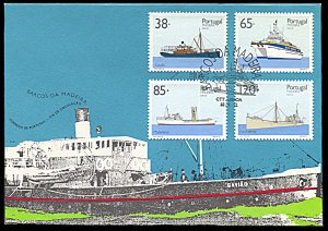 Madeira 162-165, FDC, Ships of the Madeira Islands