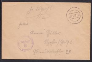 Germany, 1942 WWII U-Boot Lehrdivision Feldpost Cover