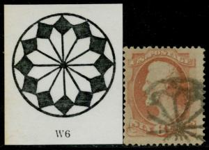 #159 FINE USED WITH RARE FANCY NY FOREIGN MAIL CANCEL BQ3469