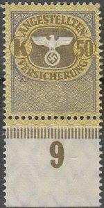 Stamp Germany Revenue WWII 3rd Reich War War Medical Invalid Tax K50 B MNG