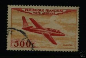 FRANCE Airmail Scott C31 used CV7.00$