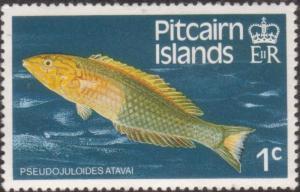 Pitcairn Islands 1984 SG246 1c Atava Wrasse fish MLH