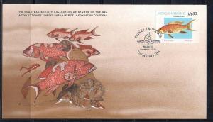 Mozambique FDC card Sc 647 Cousteau Society Rock Cod  L79