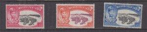 BRUNEI, 1949 Silver Jubilee set of 3, lhm.