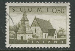 Finland - Scott 407 - Church at Lammi -1963- Used - Single 50p Stamp