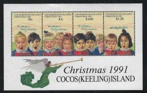Cocos Islands 1991 Christmas S/S Sc# 248 NH