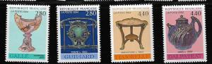 FRANCE 2398-2401 C/SET MNH DECORATIVE ARTS