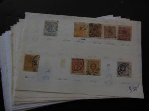 SWEDEN : Mint & Used grouping on Old Time approval pages with many Better