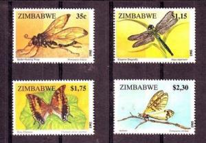 Zimbabwe 736-739, MNH, Insects 1995. x28024