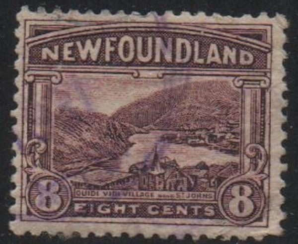 Newfoundland Sc 137 1922 8 c Quidi Vidi stamp used