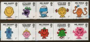 Great Britain Sc 3552-61 2016 Children's Book Characters stamp set mint NH