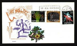 Spain 1964 XXV Anos De Paz FDC / Alonso Painted / UA - L3679