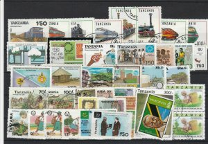 Tanzania Mixed Subject Stamps including Trains Ref 24944