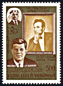 Kathiri State Michel 164A, MNH, Kennedy and Lincoln
