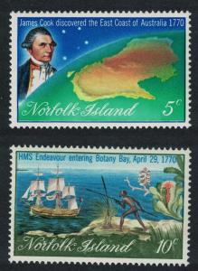 Norfolk Ships Map Captain Cook Bicentenary 2v SG#118-119 SC#141-142