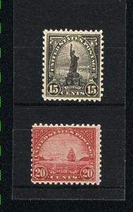 USA #696, 698  Mint  1931