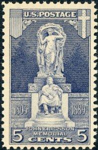 #628 – 1926 5c Ericsson Memorial. MNH. OG. VF