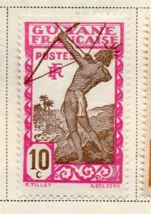 French Guiana 1929 Early Issue Fine Mint Hinged 10c. 145584