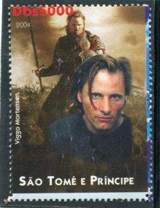 Sao Tome & Principe 2004 VIGGO MORTENSEN American Actor 1v Perforated Mint (NH)