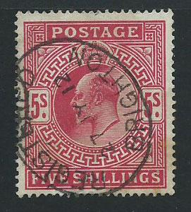 GB Edward VII  SG 318   FU well centred light toning at 1...