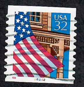 US #2915A Flag over Porch Used PNC Single plate #22222