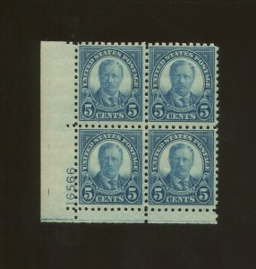 United States Postage Stamp #586 MNH F/VF Plate No. 16566 Block of 4