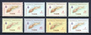 TIMOR — SCOTT 280-287 — 1956 MAP SET — MNH — SCV $8.45+