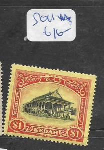 MALAYA KEDAH (P1006B)  $1.00   SG 11  MOG