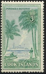 Cook Islands 140 3/- MHR F/VF