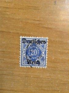 Germany  (Wurttemburg) SC #O62   Used