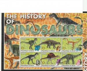 Benin MNH S/S Dinosaurs #2 2003 Large Size