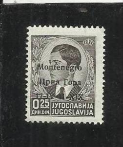 MONTENEGRO 1941 SOPRASTAMPATI DI JUGOSLAVIA 25 P MNH