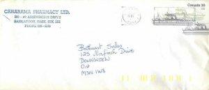 Entier Postal stationery Postal Canadian Charter Boat Saskatoon