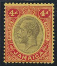 Jamaica SG 63b SC# 72a  MVLH  on lemon see details