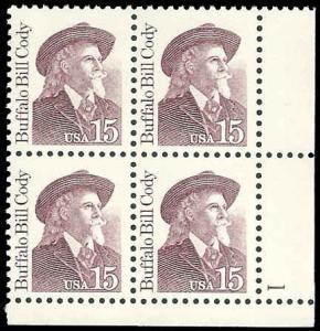 PCBstamps    US #2177a PB 60c(4x15c)Buffalo Bill Cody, all tag, 1990, MNH, (P...