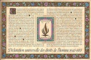 1988 United Nations Geneva Declaration of Human Rights  SC#172 Mint