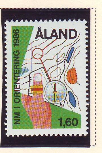 Aland Sc 24 1986 Orienteering stamp used
