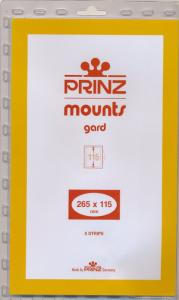 Prinz Scott Stamp Mount 115/265 CLEAR Background Pack of 5