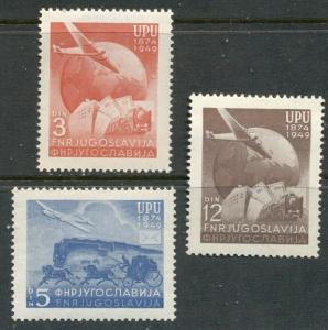 YUGOSLAVIA - UPU:  1949 MNH Set; Sc 265-267
