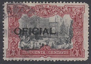 MEXICO 50c OFFICIAL SG O309 used............................................F863