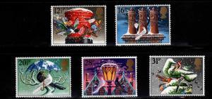 Great Britain Scott 1035-1039 MNH** 1983 Christmas set