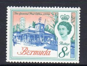BERMUDA #181  1962  8p  QEII & GENERAL POST OFFICE     MINT  VF NH  O.G