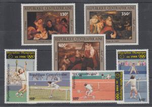 Central African Republic Sc C308/C329 MNH. 1985-86 issues, 2 cplt sets VF