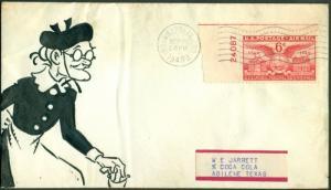 1949 ORIGINAL COMIC ART ON COVER UNIQUE BL7938