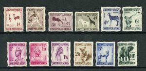South West Africa SG154/65 1954 Set of 12 M/M Cat 50 pounds