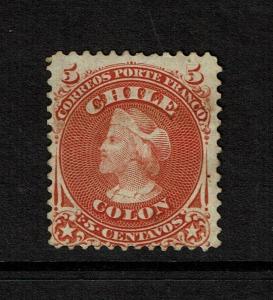 Chile SC# 17 Mint Hinged / Sm Hinge Rems / Full Gum - S7367