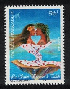 Fr. Polynesia St Valentine's Day 1999 MNH SG#840