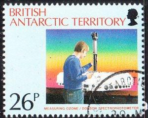 British Antarctic Territory 1991 used Sc #177 26p Measuring ozone