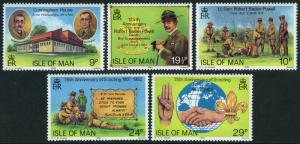 Isle of Man 207-211, MNH. Scouting Year. Lord Baden-Powell, 1982